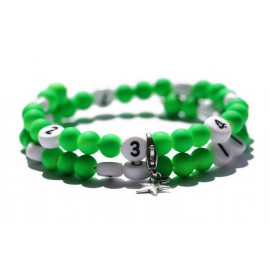 Bracelet d'allaitement de couleur vert - perles acrylique