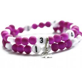 Bracelet d'allaitement de couleur violet - perles acrylique
