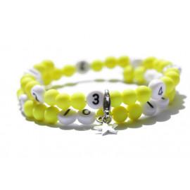 Bracelet d'allaitement de couleur jaune - perles acrylique