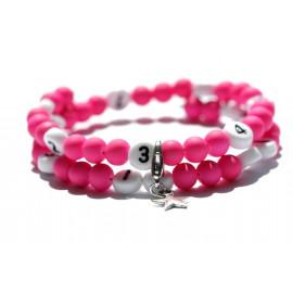 Bracelet d'allaitement de couleur rose - perles acrylique