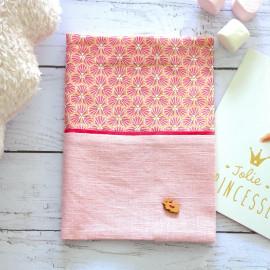 Protège carnet de santé fille en lin, cadeau de naissance
