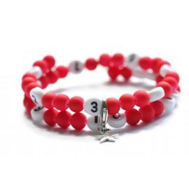 Bracelet d'allaitement de couleur rouge - perles acrylique