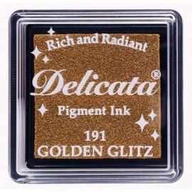 Encre Delicata - éclat doré - 3 x 3 cm