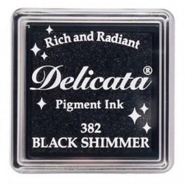 Encre Delicata - noir scintillant - 3 x 3 cm