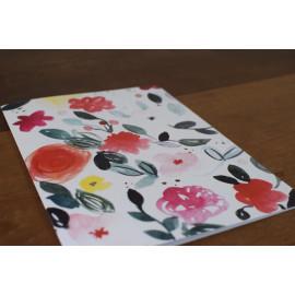 Carte grand format fleurie