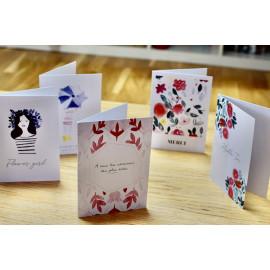 Lot 5 cartes aquarelle