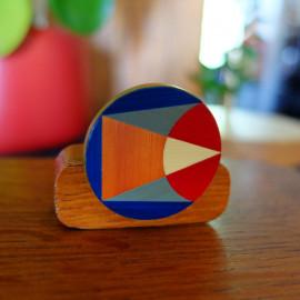 """Broche Géométrique Multicolore - Collection """"LES GRAPHIQUES"""""""
