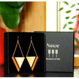 """Boucles d'oreilles Triangle Orange - Collection """"LES GRAPHIQUES"""""""