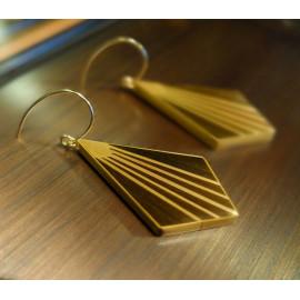 """Boucles d'oreilles Rayonnantes Bronze - Collection """"ART DÉCO"""""""