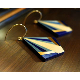 """Boucles d'oreilles JADIS Bleues - Collection """"ART DÉCO"""""""