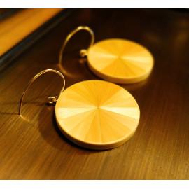 """Boucles d'oreilles Grand Monochrome Vieil Or - Collection """"LES SOLEILS"""""""