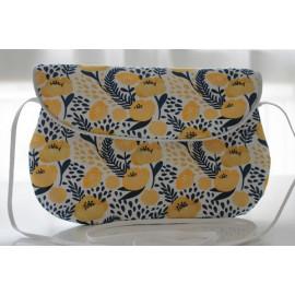 sac bandoulière grand modèle fleurs jaunes