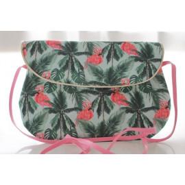 sac bandoulière grand modèle flamant rose