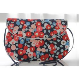sac bandoulière grand modèle des fleurs
