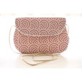 sac bandoulière grand modèle cercles roses
