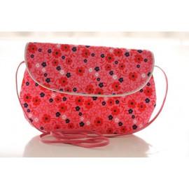 sac bandoulière grand modèle fleur rose