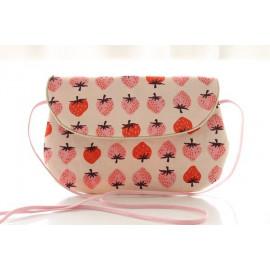 sac bandoulière grand modèle fraises rouges