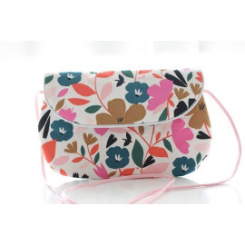 sac bandoulière grand modèle fleurs colorées