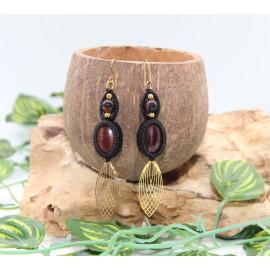 Boucles d'oreilles en laiton • Œil de Taureau