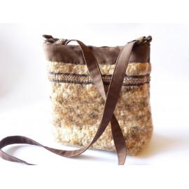 Sac bandoulière en laine bouillie