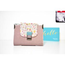 Pocket planner en liège végétal Pépée rose & tatoo, portefeuille et agenda de poche