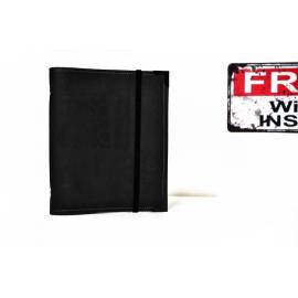 Planner A5 en liège végétal Noir - totalement noir, agenda de poche rechargeable