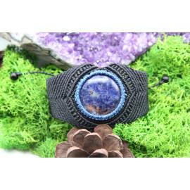 Bracelet en micro-macramé et Sodalite