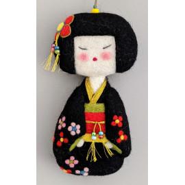 Geisha décorative en laine feutrée