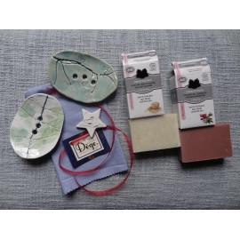 Coffret cadeau - Porte savon céramique et savon surgras bio