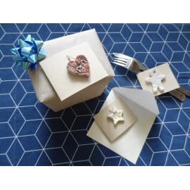 3 cartes pour personnaliser les cadeaux ou envoyer ses voeux avec céramiques