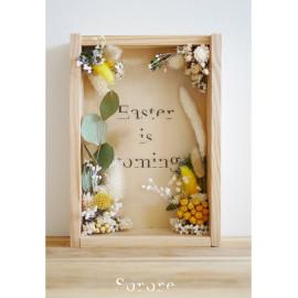 Cadre en bois & fleurs séchées