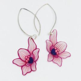 Boucles d'oreilles orchidée
