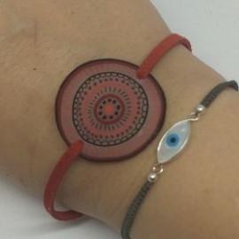 Bracelet simple rouge et noir
