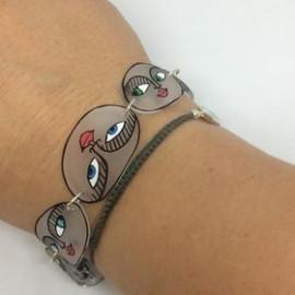 bracelet visages