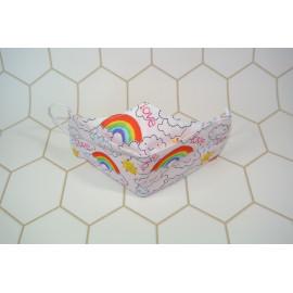 "Masque "" Ninja Rainbow"" blanc"