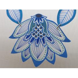 Collier plastron grosse fleur de lotus