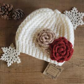 """Bonnet relief """"collection florale"""""""