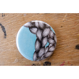 "Badge original ""Tresses bleu clair"""