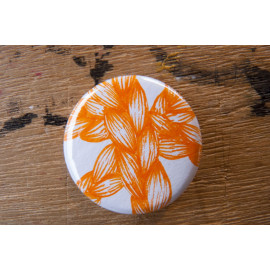 "Badge original ""Tresses oranges"""
