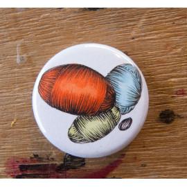 """Badge original """"Pelotes de laine"""""""