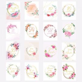 Carte étape grossesse florale