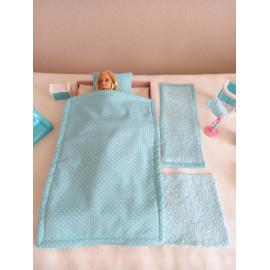 Parure de lit et linge de toilette pour Barbie
